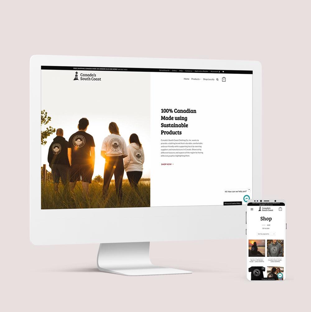 Canada's South Coast Clothing Co. Website