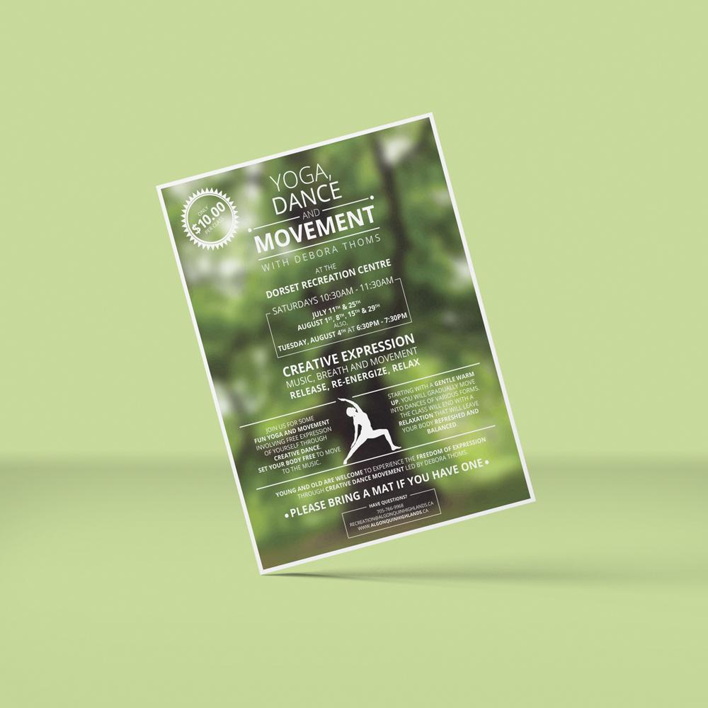 Yoga, Dance & Movement Flyer