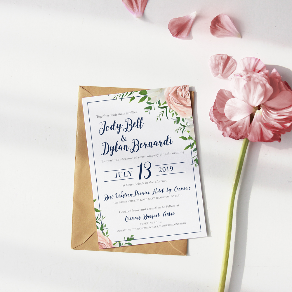 J&D Wedding Invitation