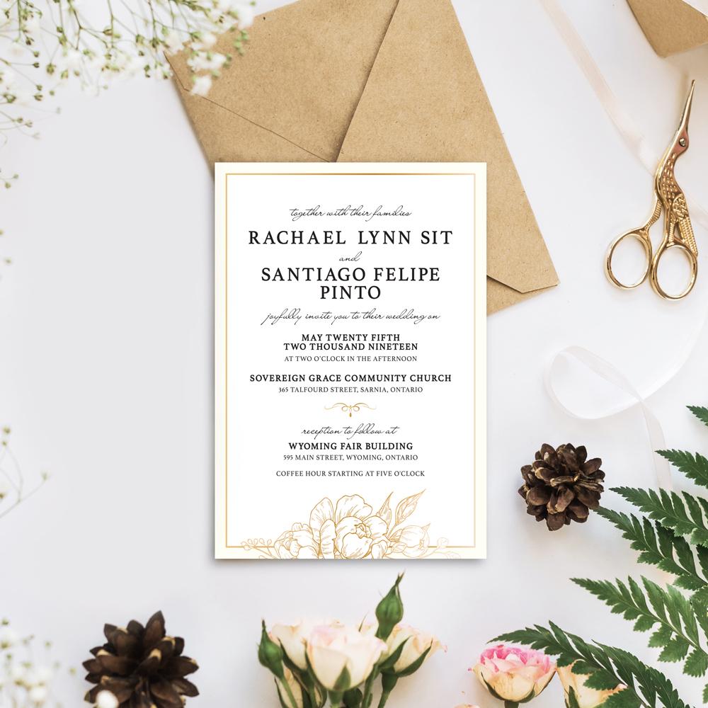 R&S Wedding Invitation
