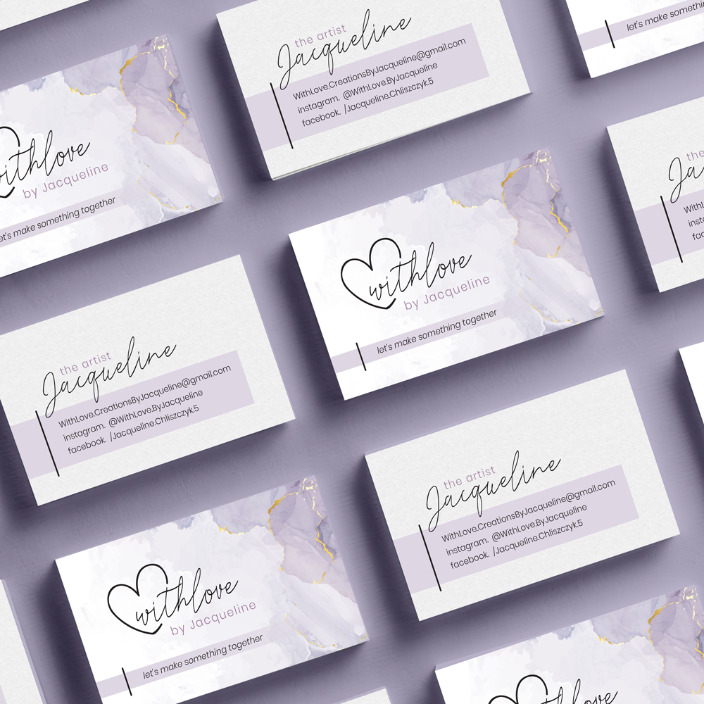 With Love by Jacqueline Business Card