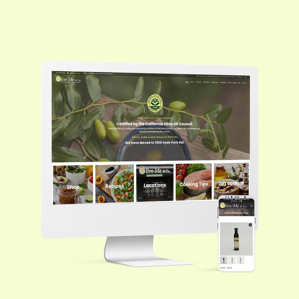 Olive-Me & Co. Website